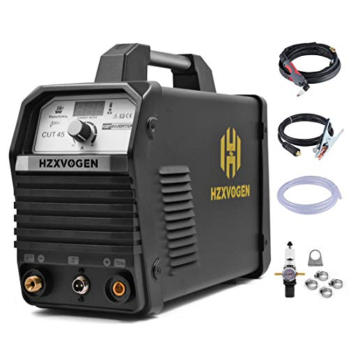 HZXVOGEN 40Amp Plasma Cutter 220V Air Plasma Cutter DC Inverter Cutting Machine - 60% Duty Cycle All Kinds of Steel Clean Cutting Machine IGBT Technology (CUT45)