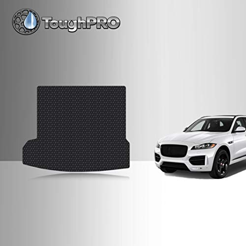 TOUGHPRO Cargo/Trunk Mat Accessories Compatible with Jaguar F-pace - All Weather - Heavy Duty - (Made in USA) - Black Rubber - 2016, 2017, 2018, 2019, 2020, 2021