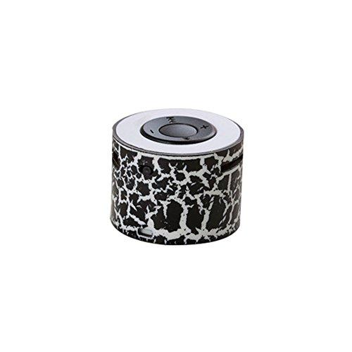 HuhuswwBin Lettore MP3,Music Player con Lettore Musicale Senza Fili Mini Altoparlante Basso Stereo Portatile A Forma di Crepa Black