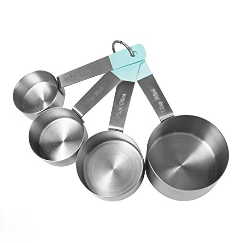 Jamie Oliver Measuring Cups Set, Nest for Easy Storage, Stainless Steel Connecticut
