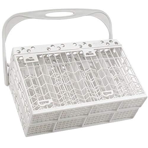 SPARES2GO Panier à couverts pour lave-vaisselle Whirlpool (Blanc)