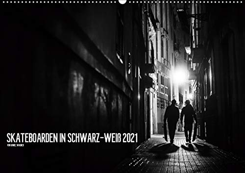 Skateboarden in Schwarz-Weiß (Wandkalender 2021 DIN A2 quer)
