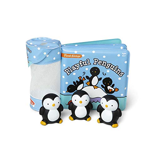 Melissa & Doug Children's Book - Float-Alongs: Playful Penguins (Bath Book + 3 Floating Penguin Toys, Great Gift for Girls & Boys - Best for Babies & Toddlers, 4, 6, 9 Month Olds, 1 and 2 Year Olds)