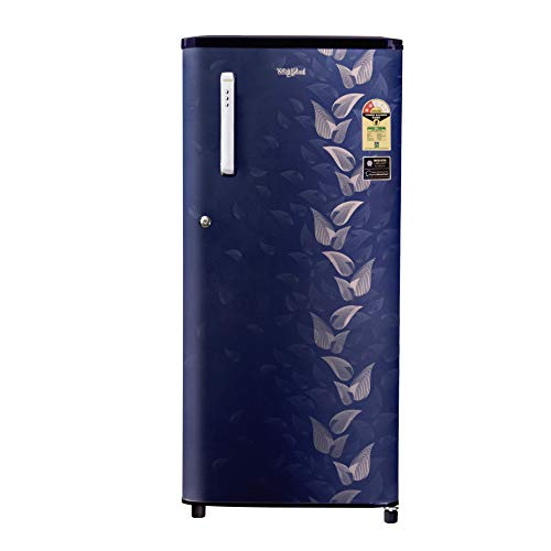 Whirlpool 190 L 2 Star Direct-Cool Single Door Refrigerator (WDE 205 CLS PLUS 2S, Sapphire Fiesta, Toughened Glass Shelves)