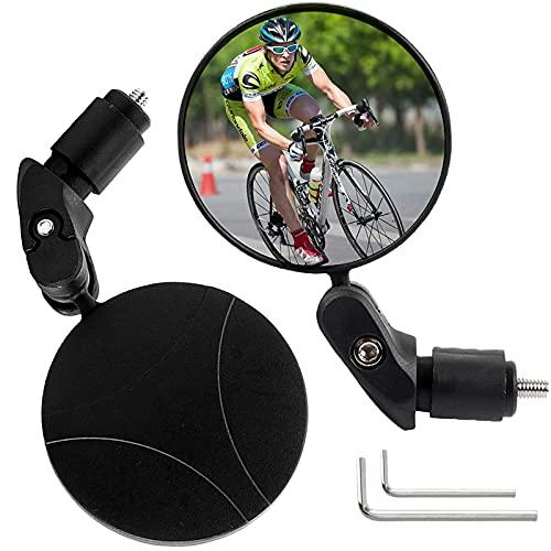 Specchietti Bici Specchietto Convesso per Bici Ruotabile a 360° Specchietto Retrovisore per Bicicletta 2 Pezzi