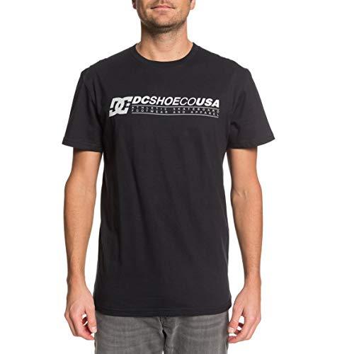 DC Shoes Longer-Camiseta para Hombre, Grey Heather, M
