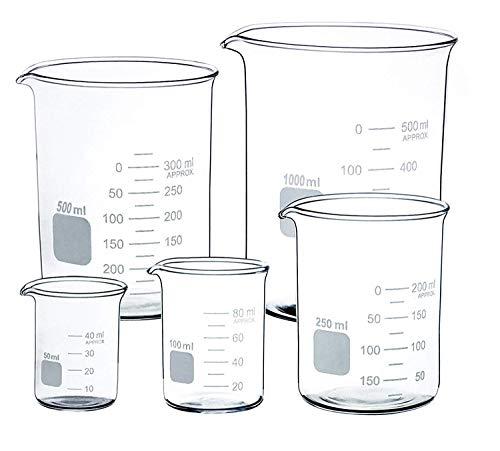 Vaso de cristal transparente de 50 ml, 100 ml, 250 ml, 500...