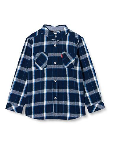 Levi's Kids Lvb Ls Woven Button Up Shirt Chemisenkleid Jungen Dress Blues 14 Jahre