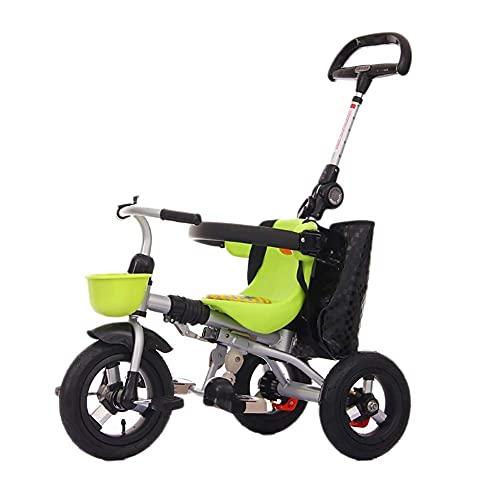 Baby Trike - Carrito de bebé plegable para bebé de 1 a 3 años de edad, juguete para coche al aire libre, portátil, color verde, triciclos para niños de 1 a 3 años