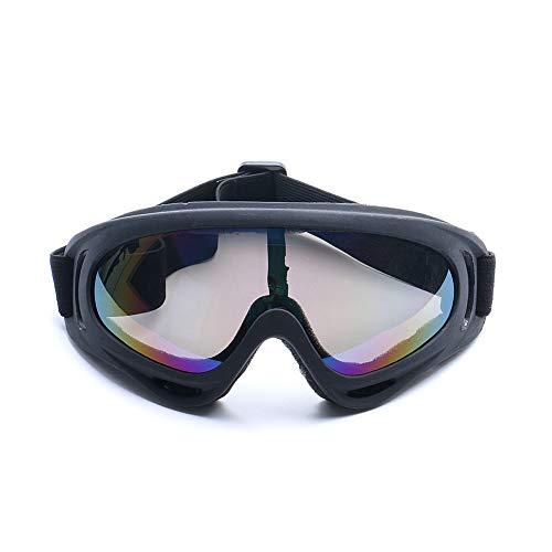 Miaouyo Skibrille Ski Snowboard Brille Brillenträger Schibrille UV-Schutz Anti Fog Snowboardbrille Damen Herren Kinder Motorradbrille Schutzbrille für Skifahren Snowboard (Bunt, OneSize)