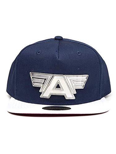 Captain America: Civil War Mov Cap Metal Plate Logo Snapback Blue