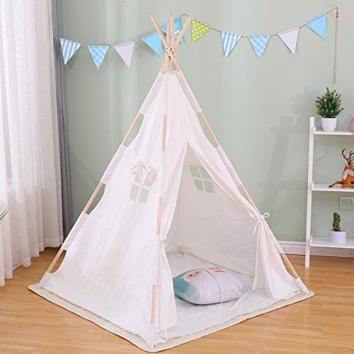 Large Princess Kids Play Tent Camping Sun Shelter Teepee Tent Indoor House for Girls Boys Kids Adults Dog Cat Pet Party Animals Dog Bed Tent 4 Legs