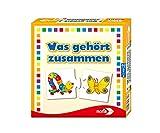Noris 608985662 Was gehört zusammen, das beliebte Kinderspiel für Groß und Klein-Reise-und Mitbringspiel, ab 3 Jahren