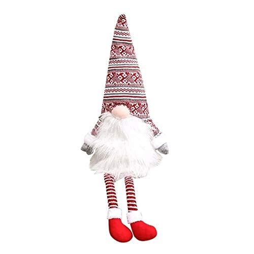 Lysee Christmas Hats - Christmas Tree Hat Cone-Shaped Festive Doll Pendant Decor Christmas Tree Ornaments Faceless Doll Decoration Hat - (Color: A)