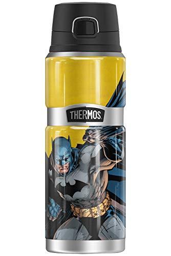 Botella de acero inoxidable con diseño de Batman, termo King de Batman, aislada al vacío y doble pared, 24oz