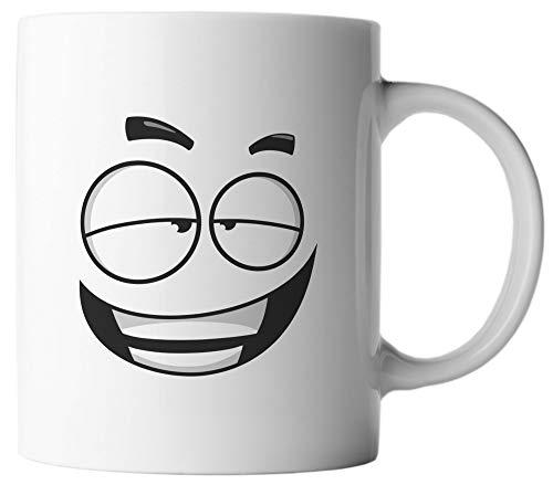 VanVerden Taza – Caras divertidas Emoticon Emoji – Estampado por ambos lados – Idea regalo Taza de café con frase en alemán