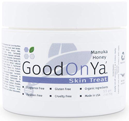 Manuka Honey Face Moisturizer with Coconut Oil, Cocoa Butter, Aloe Vera, Vitamin E and Vitamin C - Anti Aging and Skin Lightening Cream - Pore Minimizer and Whitening MSM Cream – (2oz/57g)