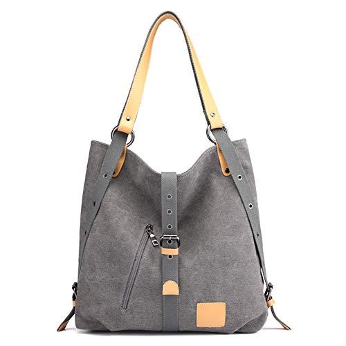 Estwell Damen Handtasche Schultertasche Canvas Vintage Umhängetaschen Frauen Multifunktionale Hobo Tasche für Arbeit Reise Schule Shopper
