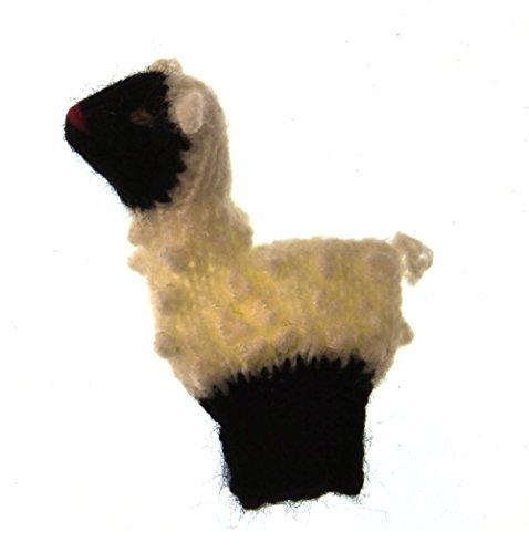 Marionnette à doigt tricoté: mouton : fabriqués à la main au Pérou