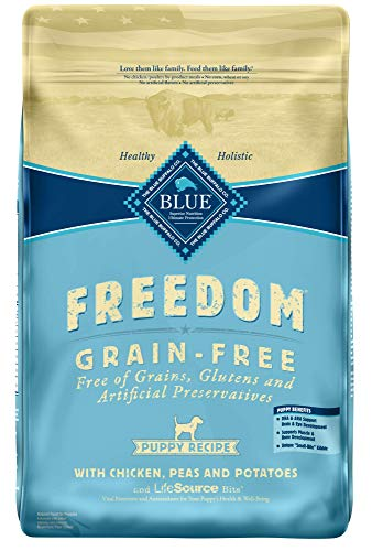 Blue Buffalo Freedom Grain Free Chicken Recipe Puppy Dry Dog Food, 24-Pound (676)