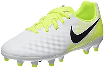 Nike Kids Jr Magista Opus II FG Soccer (Toddler Big, White/Black/Volt/Pure Platinum, 3 Little Kid M