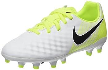 Nike Kids Jr Magista Opus II FG Soccer  Toddler/Little White/Black/Volt/Pure Platinum 4.5 Big Kid M