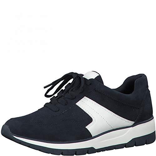 Tamaris Damen Low-Top Sneaker, Frauen Halbschuhe,lose Einlage,Halbschuhe,straßenschuhe,Freizeitschuhe,keil,Sneaker,Wedge,Heel,Navy,39 EU / 5.5 UK