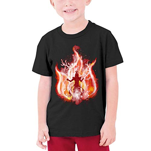 XCNGG Niños Tops Camisetas Fire Tribei Black Other Boys and Girls Short Sleeve T-Shirts, Youth T-Shirts