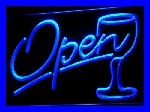 INDIGOS UG Pema PEMA Projecteur Lumière Open avec Verre à vin neonlight I536 de B lumière Publicité