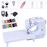 Asany Sewing Machine, Household Mini Sewing Machine Tool with Extension Table, 12 Built-in Stitches, 2 Speeds Double Thread