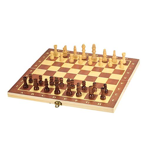 YBBGHH Tablero de ajedrez de Madera portátil Tablero Plegable Juego de ajedrez Juego Internacional de ajedrez para Fiestas Actividades Familiares