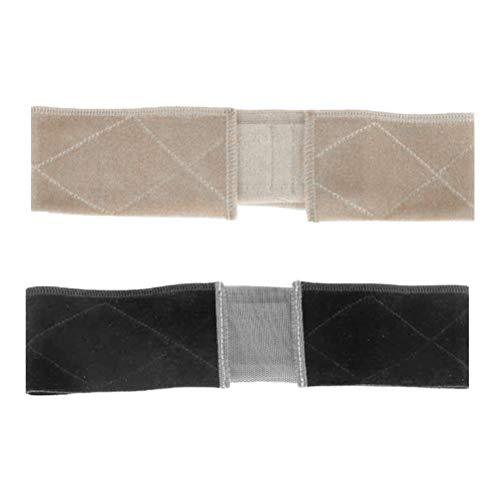 Pruik hoofdband 2 verstelbare pruikenhandvat, flexibele sjaal hoofdband, antislip pruik, accessoire voor dames en heren beige+zwart