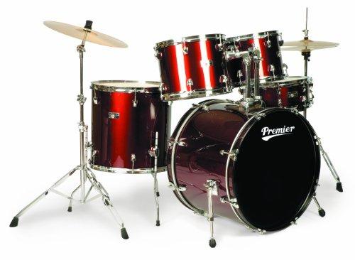 Premier Wrap Stage 20 6190WR-S Schlagzeug-Set, aus der Olympic-Reihe, Weinrot