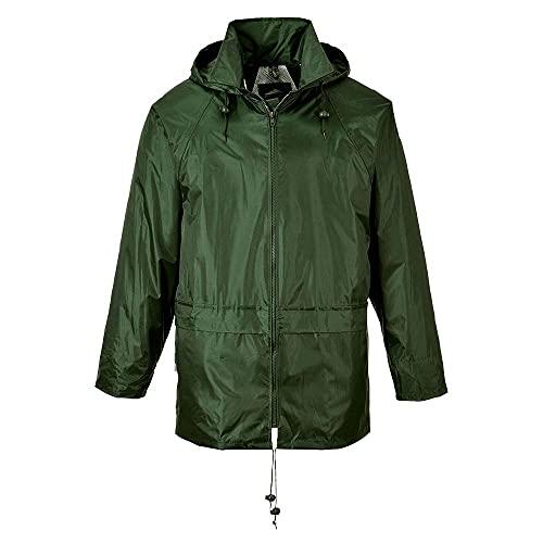 Portwest, classica giacca impermeabile, codice articolo S440OGR4XL S440, Verde, S440OGRM