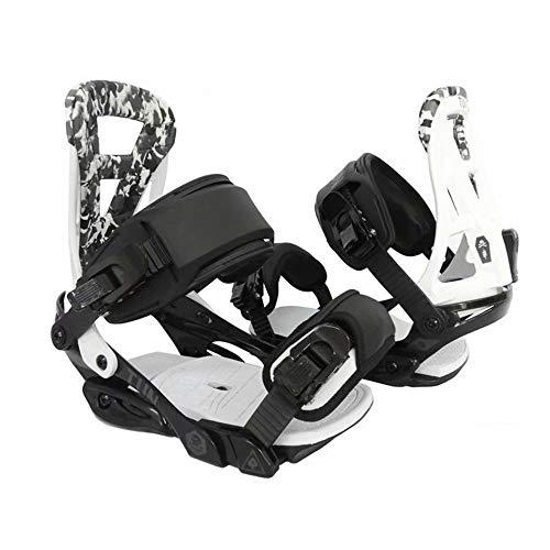 LP-LLL Zapatos de esquí Ajustables para Exteriores - Senderismo Raquetas de Nieve Zapatos de Nieve Patines de esquí para Hombres y Mujeres, Mini Patines de esquí Equipo de esquí (Blanco y Negro)