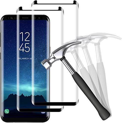 NUOCHENG [Lot de 2 Verre Trempé pour Samsung Galaxy S9 Film Protection Écran, [Vitre HD][Anti-Rayures] [Anti-Empreintes digitales] Film Protecteur Samsung Galaxy S9