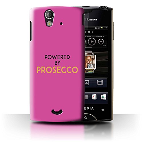 Stuff4 Phone Case/Cover/Skin/SXP-CC/Prosecco Fashion Collection Sony Xperia Ray/ST18i Powered by/roze/goud