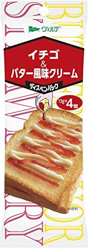 ヴェルデ ディスペンパック イチゴ&バター風味クリーム 13g×4P×4個