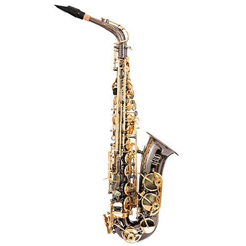 Chyuanhua Saxophon E-Flat-Altsaxophon-Junior-Saxophon-Instrumenten-Messing-Instrument Geeignet für Studenten und Anfänger (Farbe : As Shown, Size : One Size)
