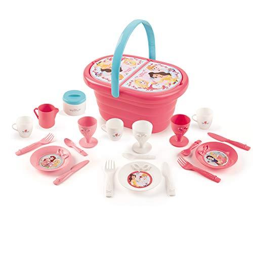 #1118 Disney Princess Picknick-Korb für Kinder ab 3 Jahren - Picknick Korb Teeservice Puppengeschirr Spielzeug Set