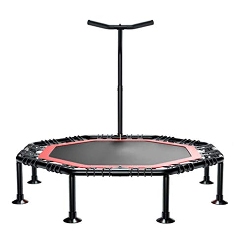 SONGDP Mini Fitness Trampoline With Adjustable T-bar Stability Handle, Foldable Exercise Trampoline for Adults or Kids, Aerobic Bouncer Trampoline for Gym/Home, Max. Load 250kg with Suction Base Jumpi