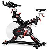 ZKHD Bicicleta De Spinning para Interiores Unisex, Bicicleta Estática De Ciclismo Silenciosa Y De Gran Capacidad De Carga, El Movimiento De Alta Velocidad Es Más Estable