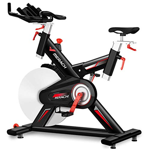 ZKHD Bicicleta De Spinning para Interiores Unisex, Bicicleta Estática De Ciclismo Silenciosa Y De G