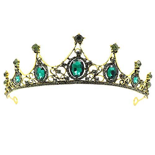 1 Piezas Verde Cristal Tiara, Verde Tiara, Verde Cristal Corona Tiara, para...