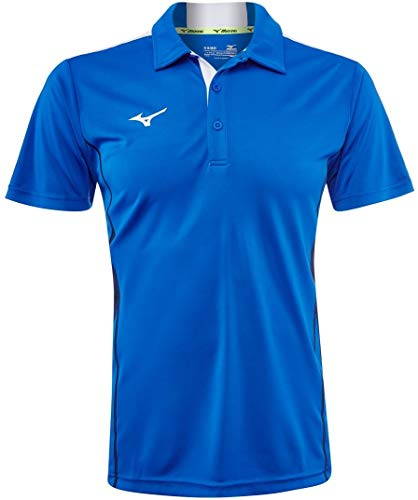Mizuno Hex Rect Polo pour Homme XL Blue Roi/Blanc