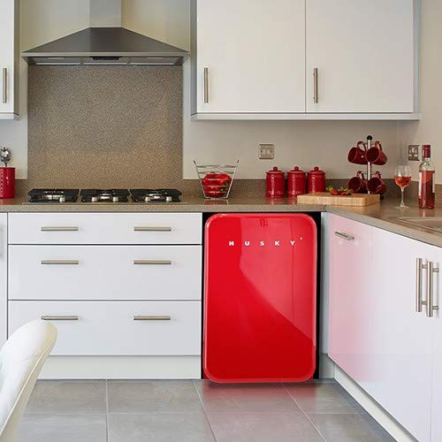 Husky Retro 130 Unterschrank 107 l A+ Rot Kühlschrank (107 l, 39 dB, A+, Rot)