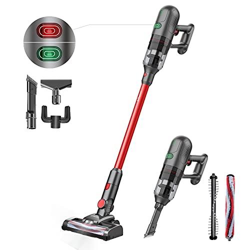 Ultenic U10 Aspiradora Escoba sin Cable,4 en 1 Potente 23000PA,Largo Tiempo de Trabajo,Batería Extraíble,Detección de Polvo,Auto-Aumenta la Succión,HEPA Filtro Lavable,LED Luz,Ligero