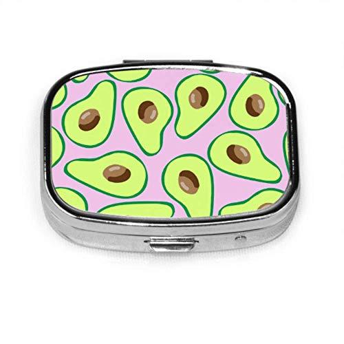 Avocado Cartoon Fruit Case Medicine Pill Case for Teens Organizer Case