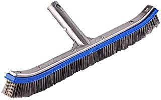 """Lalapool Heavy Duty 18"""" Aluminum Swimming Pool Brush,Stainless Steel Wire Bristle Pool Brush for Walls,Tiles & Floors Curv..."""