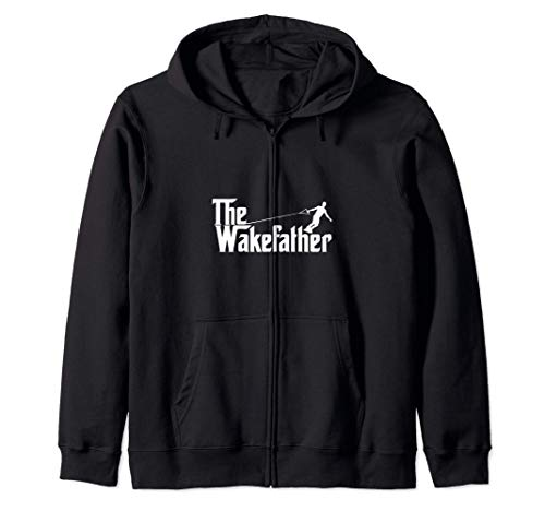 The Wake Father Funny Wakeboarding Dad Gift Sudadera con Capucha